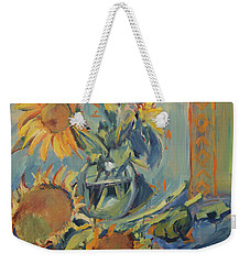 Sunflowers Fresh And Dried With Vase Weekender Tote Bag