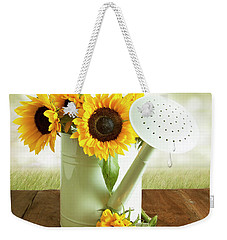 Sunflowers In An Old Watering Can Weekender Tote Bag