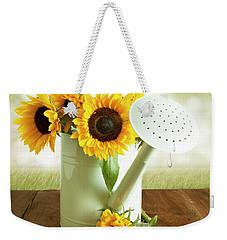 Sunflowers In An Old Watering Can Weekender Tote Bag