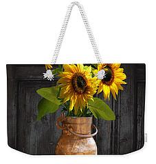 Sunflowers In Copper Milk Can Weekender Tote Bag