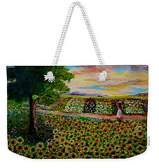 Sunflowers In Sunset Weekender Tote Bag
