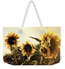 Weekender Tote Bag featuring the photograph Sunflowers In Tone by Glenn McCarthy Art and Photography