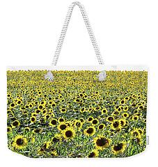 Sunflowers Mattituck New York Weekender Tote Bag by Bob Savage