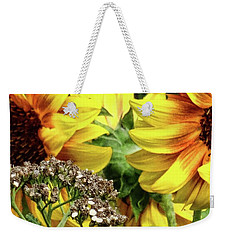 Sunflowers Weekender Tote Bag by Mikki Cucuzzo