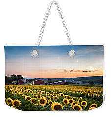 Sunflowers, Moon And Stars Weekender Tote Bag by Eduard Moldoveanu