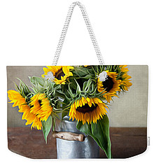 Sunflowers Weekender Tote Bag by Nailia Schwarz