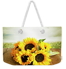 Sunflowers On A Table Weekender Tote Bag