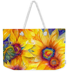Sunflowers On Blue II Weekender Tote Bag
