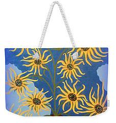 Sunflowers On Navy Blue Weekender Tote Bag
