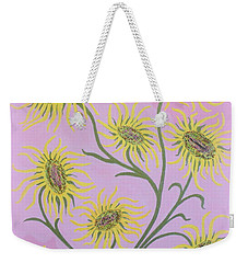 Sunflowers On Pink Weekender Tote Bag