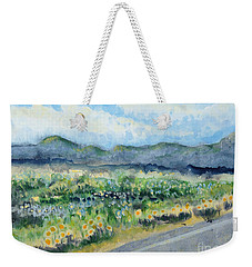 Sunflowers On The Way To The Great Sand Dunes Weekender Tote Bag by Holly Carmichael