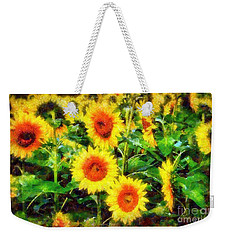 Sunflowers Parade In A Field Weekender Tote Bag