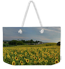 Sunflowers, People, And Pictures 2 Weekender Tote Bag