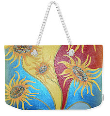 Sunflowers Symphony Weekender Tote Bag by Marie Schwarzer