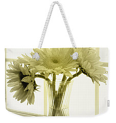 Weekender Tote Bag featuring the photograph Sunflowers by Todd Blanchard