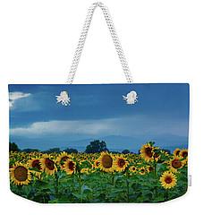 Sunflowers Under A Stormy Sky Weekender Tote Bag