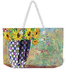Sunflowers Warmth Weekender Tote Bag by Haleh Mahbod