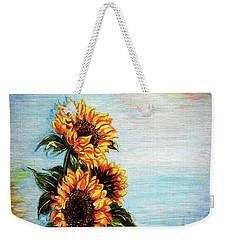 Sunflowers - Where Ocean Meets The Sky Weekender Tote Bag