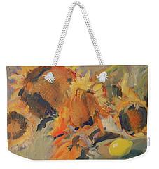 Sunflowers With Lemon Weekender Tote Bag