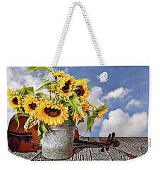 Sunflowers With Violin Weekender Tote Bag