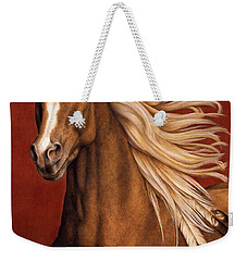 Weekender Tote Bag featuring the painting Sunhorse by Pat Erickson
