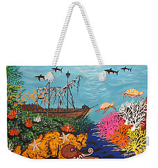 Sunken Treasure Ship Weekender Tote Bag