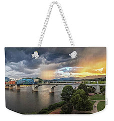Sunlight And Showers Over Chattanooga Weekender Tote Bag