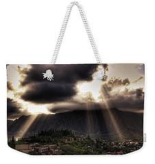 Sunlight Breaking Through The Gloom Weekender Tote Bag