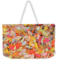 Sunlight On Barberry Leaves Weekender Tote Bag by Michele Penner