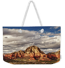 Weekender Tote Bag featuring the photograph Sunlight On Sedona by James Eddy