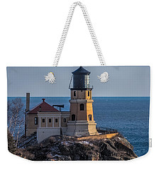 Sunlight On Split Rock Lighthouse Weekender Tote Bag