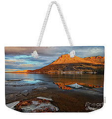 Sunlight On The Flatirons Reservoir Weekender Tote Bag by Ronda Kimbrow