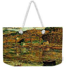 Sunlight On The Harlem River 1919 Weekender Tote Bag