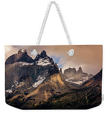 Weekender Tote Bag featuring the photograph Sunlight On The Mountain by Andrew Matwijec