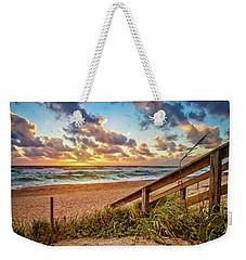 Weekender Tote Bag featuring the photograph Sunlight On The Sand by Debra and Dave Vanderlaan