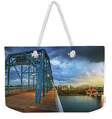 Sunlight Thru Rain Over Chattanooga Weekender Tote Bag