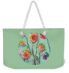Weekender Tote Bag featuring the painting Sunlit Garden by Mary Wolf