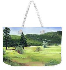 Sunlit Mountain Meadow Weekender Tote Bag