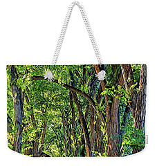 Weekender Tote Bag featuring the photograph Sunlit Path by Gina Savage