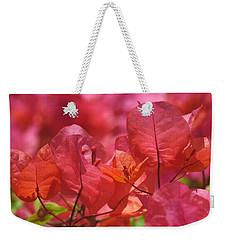 Sunlit Pink-orange Bougainvillea Weekender Tote Bag