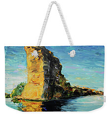 Sunlit Rock Face Weekender Tote Bag