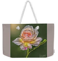 Sunlit Rose Weekender Tote Bag