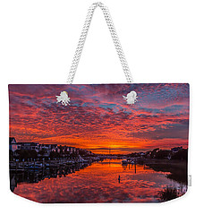 Sunlit Sky Over Morgan Creek -  Wild Dunes On The Isle Of Palms Weekender Tote Bag