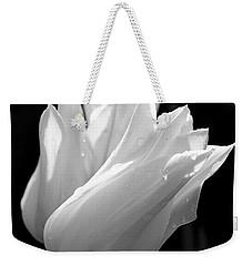 Sunlit White Tulips Weekender Tote Bag by Rona Black