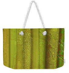 Weekender Tote Bag featuring the digital art Sunlit Fall Forest by James Fannin