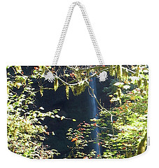 Weekender Tote Bag featuring the photograph Sunlite Silver Falls by Thomas J Herring