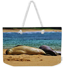 Sunning On The Beach In Hawaii Weekender Tote Bag