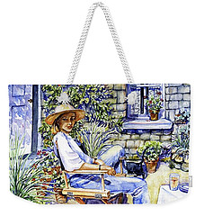 Sunny Afternoon With Black Cat Weekender Tote Bag by Trudi Doyle