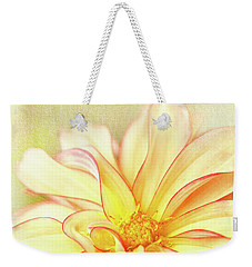 Sunny Dahlia Weekender Tote Bag by Beve Brown-Clark Photography