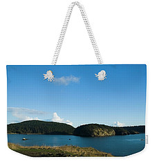 Weekender Tote Bag featuring the photograph Sunny Day At Bowman Bay Park by Yulia Kazansky